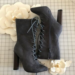 Lace Up Grey Boots Never Worn